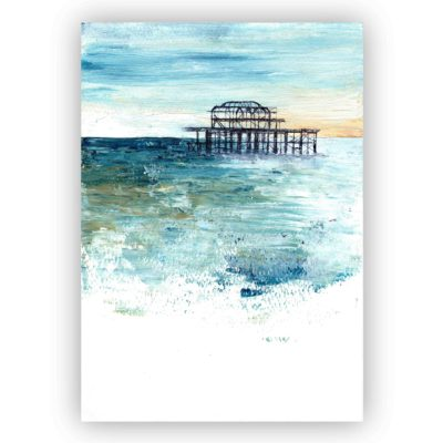 A4 print of Brighton Pier 2016